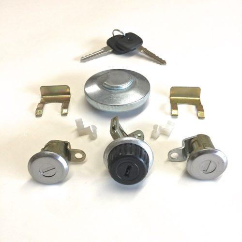 Lock-Set-Driver-Passenger-Doors-Glove-Box-Gas-Cap-Suzuki-Samurai-86-95-292443102051
