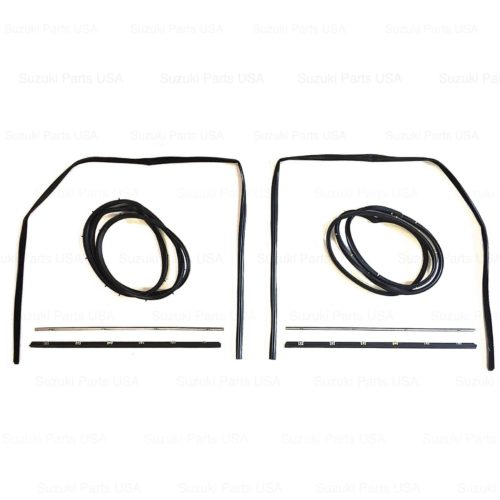 Door-Glass-Seal-Gasket-Weather-Strip-Kit-RHLH-SJ413-Suzuki-Samurai-86-95-302638172316-2