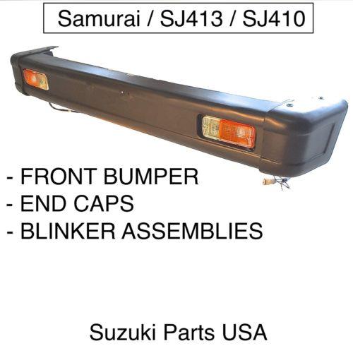 Front-Bumper-End-Caps-Turn-Lights-OEM-Suzuki-Samurai-86-95-ATLGA-292453430598